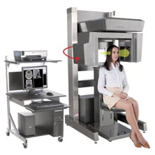 Showcasing a specialty low-dose point-of-care CT scanner.