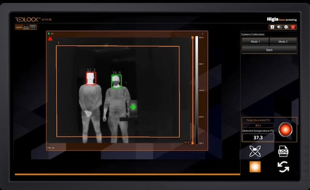 Thermographic Camera Measures Body Temperature at a Distance